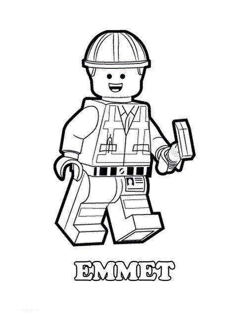 emmett lego movie coloring pages - photo#19