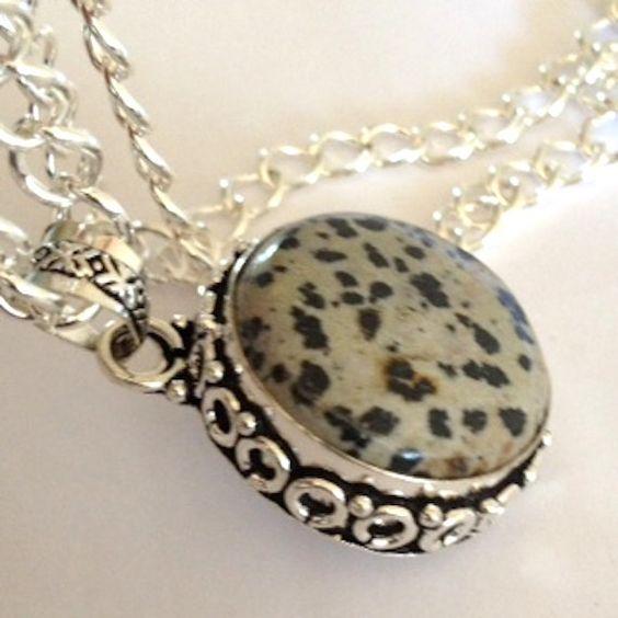 High Fashion Couture Dalmatian Jasper by BranstoneMagicMaster, $45.00