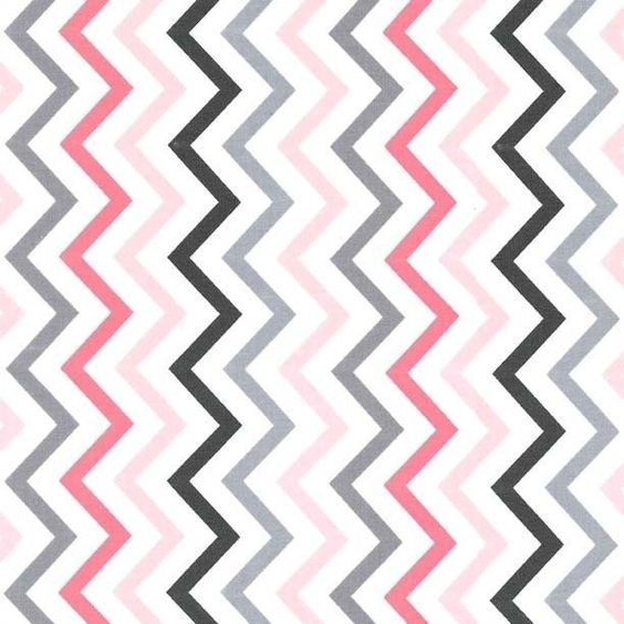 "MICHAEL MILLER ""MINI CHIC CHEVRON"" Pink and Gray Fabric by the half yard CX6220 #MichaelMiller"