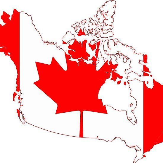 Canada Flag Map Canada Flag Map | Canada flag, Canada, Graphic design course