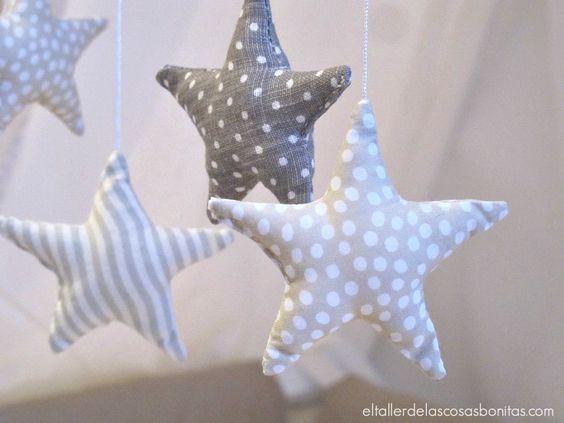 M vil de estrellas para cuna de beb littles pinterest bebe - Movil para cuna bebe ...