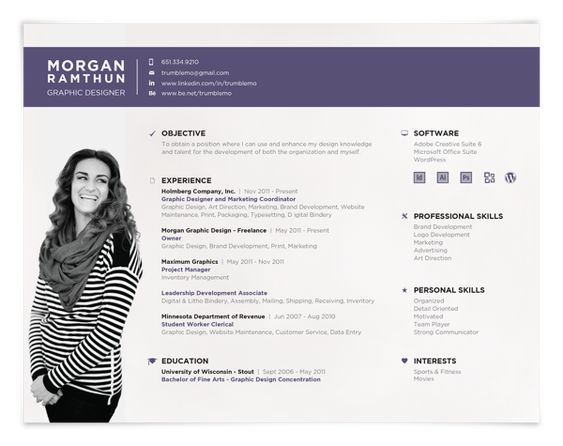 love this landscape resume format  great stuff  resume