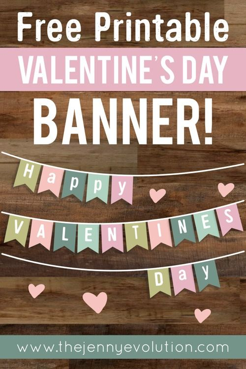 valentine's day banner printable