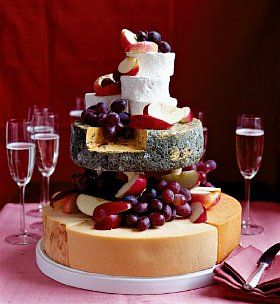 The amazing cheese wedding cake! Made from 5 tasty cheeses, this is the wedding cake with a difference.