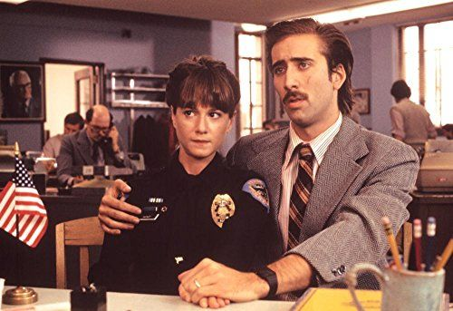 Nicolas Cage and Holly Hunter in Raising Arizona (1987)