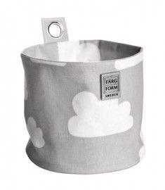 (Hang)mandje klein wolken - Grijs