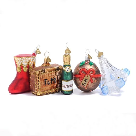 Bombki little fortnum 39 s christmas ornaments set fortnum - Fortnum and mason christmas decorations ...