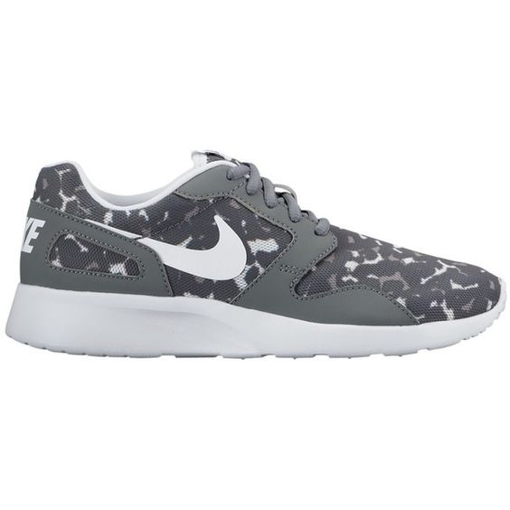 Nike Kaishi Print Women's Trainers, Grey ($95) ❤ liked on Polyvore featuring shoes, sneakers, low shoes, gray sneakers, low cut sneakers, flat shoes and synthetic shoes