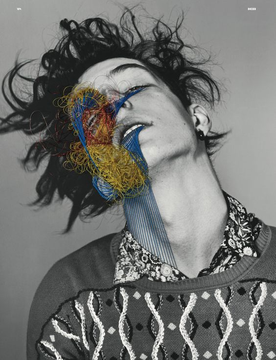 The Embroidered Secrets of Maurizio Anzeri | Yatzer  Dazed and Confused June 2011