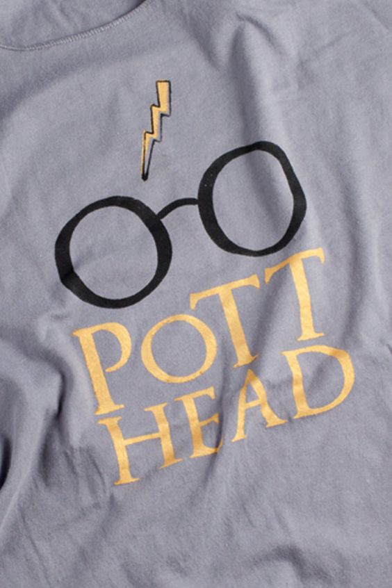 This is amazing...Harry Potter T Shirt   Pott Head Screenprint  The Perfect by NODog, $28.00