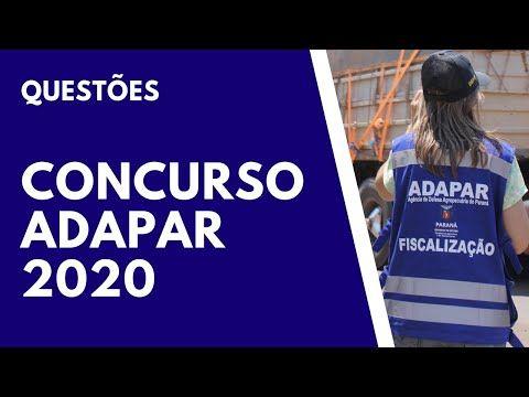 Concurso Adapar 2020 Resolucao De Questoes Concursospublicos Pandora Screenshot