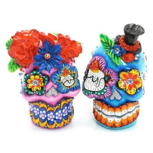 Wedding Cake Topper Skull Day of the Dead Mexican Sugar Skull C00002