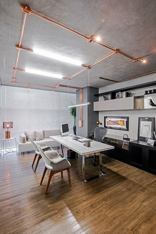 20 Industrial Home Office Design Ideas For Small Spaces