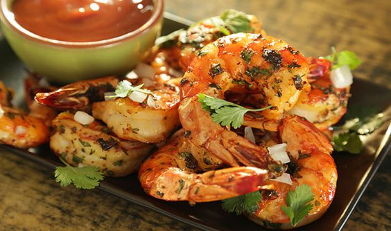 Smoked Shrimp Cocktail with Chipotle Orange Sauce - Barbecuebible.com