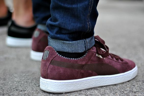 puma suede lodge bordeaux