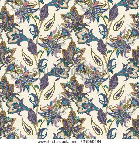 Paisley Seamless Stock Photos, Images, & Pictures | Shutterstock