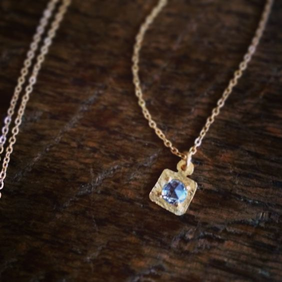 Rose cut zirconia necklace