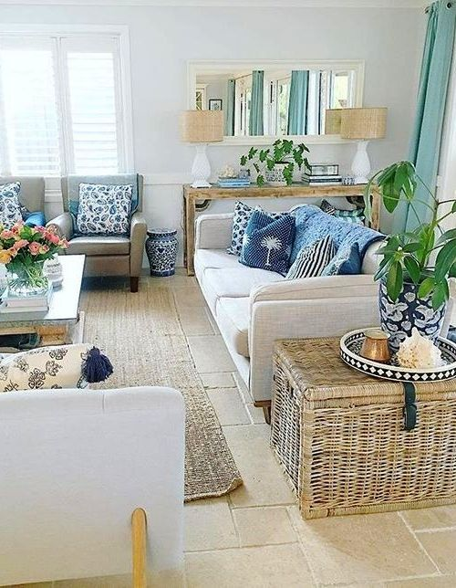 Wicker Rattan Storage Trunks Chests As Tables Decorative Furniture Accent Pieces In 2020 Furniture Living Room Side Table Coastal Decorating Living Room #side #table #living #room #ideas