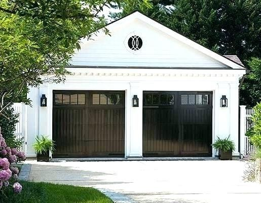 White House With Black Shutters Front White House Black Shutters Yellow Door Garage Door Design House Exterior Modern Garage Doors