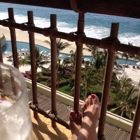 Fresh pineapple juice and ocean breeze bliss at Secrets Marquis in Los Cabos #Mexico #Travel