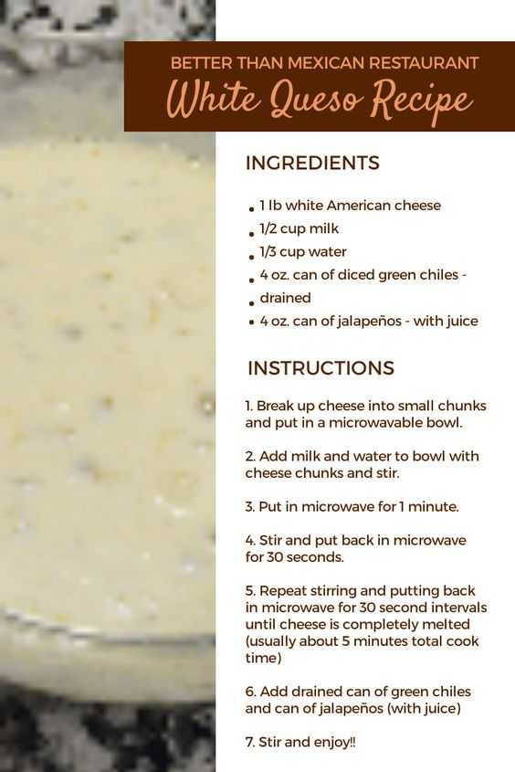 Better Than Mexican Restaurant White Queso Recipe - Mama Bear Knows Best