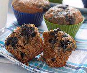 Recettes Québécoises - Muffins au son et aux bleuets 2