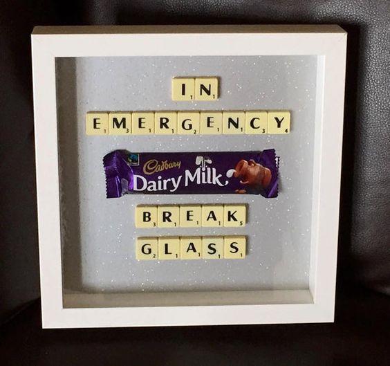 Emergency Chocolate Scrabble frame 9 x 9  by word4wordbysonni