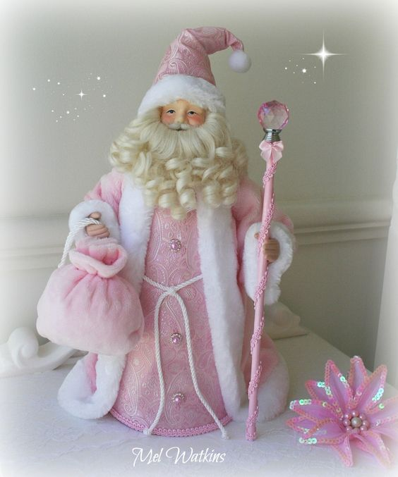 For Sale: Pink Santa Tree Topper $49.99