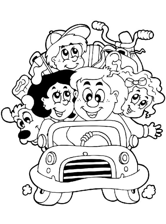 preschool family coloring pages - photo#19