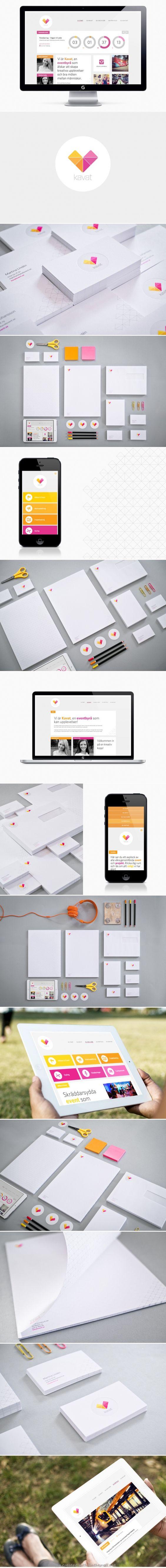 Kavat corporate identity logo business card letterhead website design