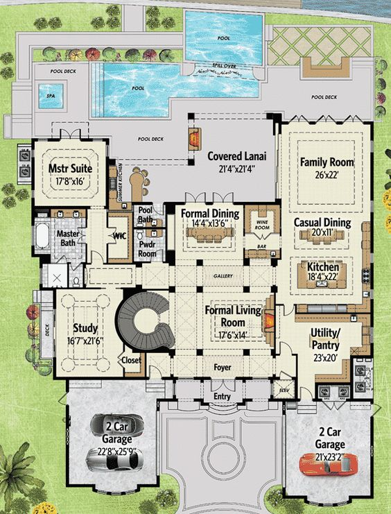 2nd floor master bedrooms and house plans on pinterest for Garage apartment plans with elevator