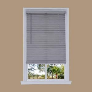 Home Decorators Collection Gray Driftwood Cordless 2 1 2 In Premium Faux Wood Blinds 48 In W X 48 In L Actual Size 47 5 In W X 48 In L 10793478377794 Faux Wood Blinds Wood Blinds Faux Wood