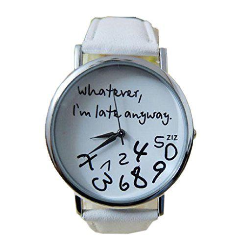 Ularmo Uhr Hot Frauen Lederbanduhr Whatever, I am Late Anyway Armbanduhr Watch - http://uhr.haus/ularmo/ularmo-uhr-hot-frauen-lederbanduhr-whatever-i-am