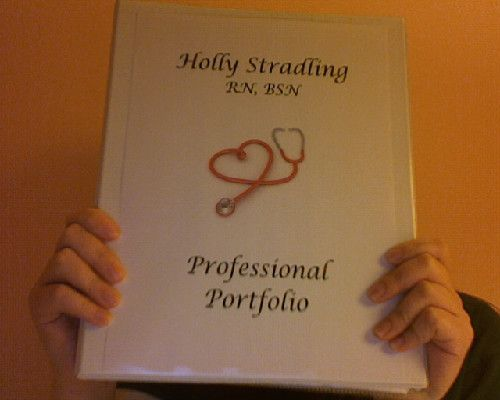 Concise guide to creating the best nursing portfolio for those who - sample cover sheet