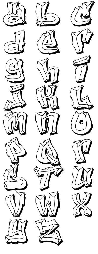Graffiti Alphabets  Graffiti    D Letters Graffiti
