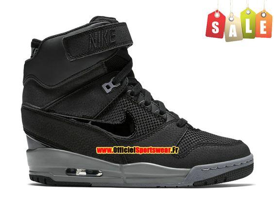 Nike Air Revolution Sky Hi GS Chaussure Montante Nike Pas Cher Pour Femme Noir Gris Cool 599410-017