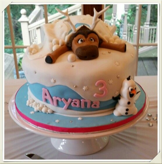 """""""Frozen"""" cake for Rob and Kiran's little princess. (09/14/2014)"""