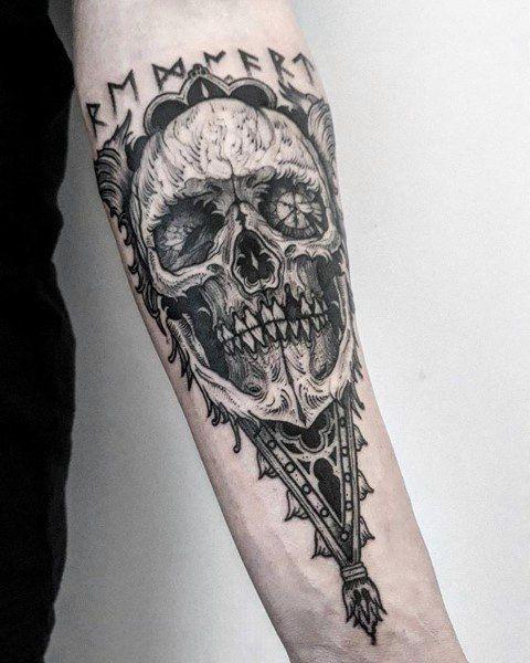 50 Gothic Tattoos For Men Dark Body Art Design Ideas Tattoos For Guys Gothic Tattoo Forearm Tattoo Design