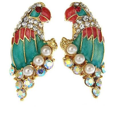 Parrot Studs by iKandi http://ikandi.co.uk/  add an infusion of colour and bling to your outfit at $19