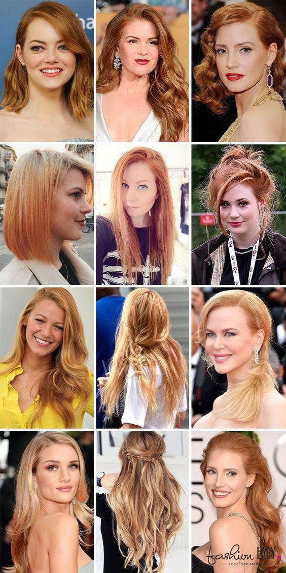 20 Shades Of Strawberry Blonde Hair Color Hairstyle Haarfarbe Blond Haarfarben Erdbeerblonde Haarfarbe