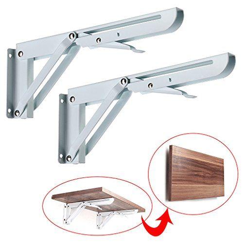 Sumnacon Sturdy Folding Shelf Brackets Heavy Duty White Https