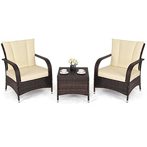 Tvcz Mix Brown 3 Pcs Rattan Wicker