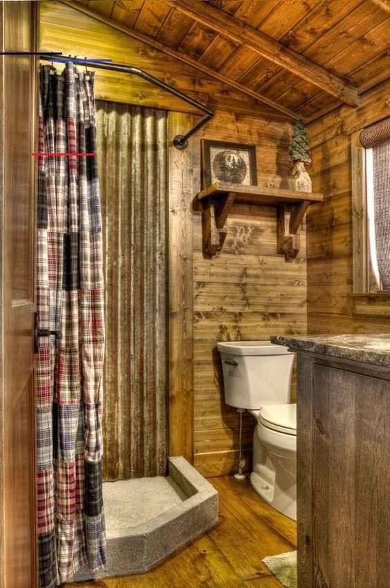 5 Most Popular Rustic Bathroom Ideas On Pinterest In 2017 Rusticbathrooms 5 Most Popular Rust In 2020 Small Rustic Bathrooms Rustic Bathrooms Small Cabin Bathroom