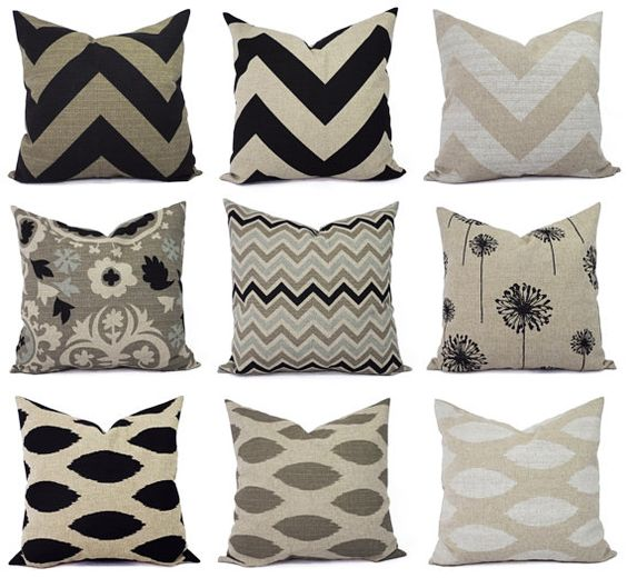 Black pillows, Cream and Lumbar pillow on Pinterest