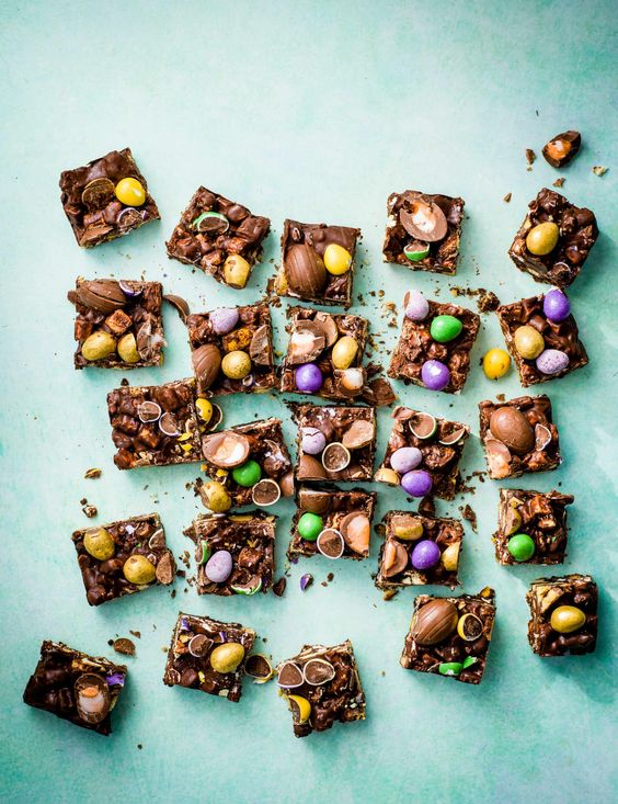 Easter Rocky Road Recipe Check out this super simple, super fun and super moreish rocky road with chocolate eggs. Perfect for an easy Easter baking project with the whole family