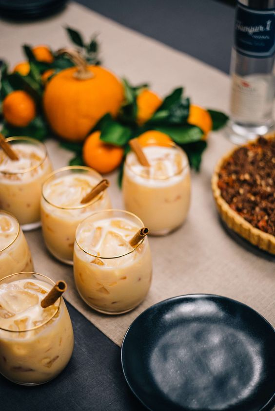The Taste SF loves to make Pumpkin Spice Cocktails for Friendsgiving or Thanksgiving cocktail made with Hangar 1 Vodka