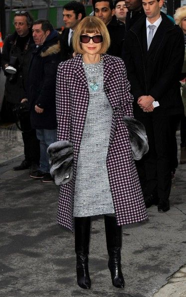Anna Wintour - Arrivals at the Chanel Runway Show. (2014)