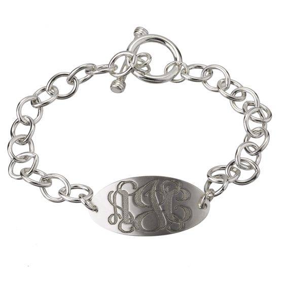 LOVE!! AJ's Collection - Personalized Jewelry to Remember. Classic Monogram Oval Charm Bracelet