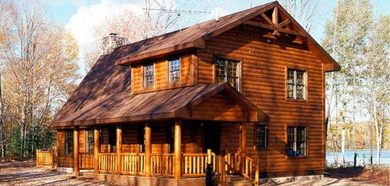 Log Homes Logs And Aspen On Pinterest
