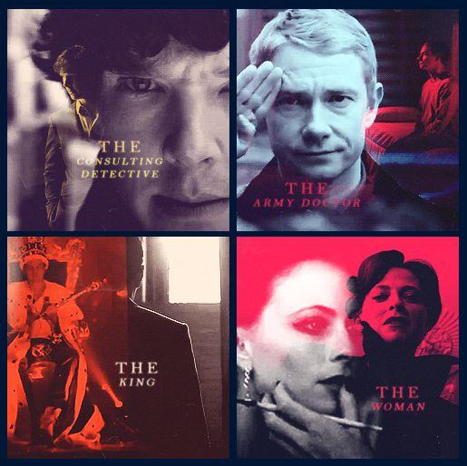 Sherlock, Watson, Moriarty and Addler.
